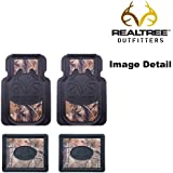 Realtree Outfitters Camo Car Truck SUV Front & Rear Seat Heavy Duty Trim-to-Fit Rubber Floor Mats - 4PC