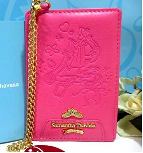 Samantha Thavasa Disney limited Tangled Pass Case Red Pink New From Japan F/S (Disneyland Tickets 2 Day Pass compare prices)