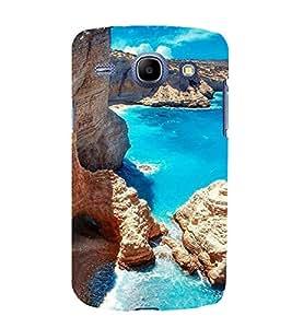 printtech Blue Water Beach Lagoon Nature Back Case Cover for Samsung Galaxy E5 / Samsung Galaxy E5 E500F