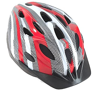 Sport DirectTM Boy's Junior Vortex Bicycle Helmet CE-EN 1078 TUV Approvals - Red/Graphite/White, 56-58 cm by Sport DirectTM