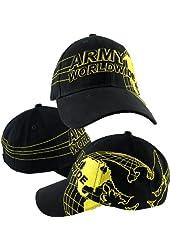 US Army World Map Ball Cap