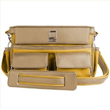 Lencca Coreen SLR Camera Bag - Mustard Yellow & Cool Camel For Nikon D3, D300, D300s, D3000, D3100, D3200, D3300, D3S, D3X DSLR Camera sale 2015