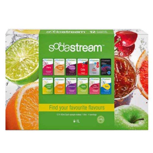 Sodastream 12 échantillons saveur paquet