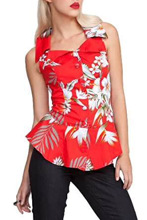 Hell Bunny Red Nioha Top Size : Small
