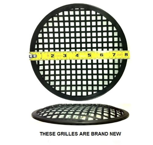 "2X 8"" Universal Metal Car Subwoofer Waffle Grills Speaker Cover Protector Guard"