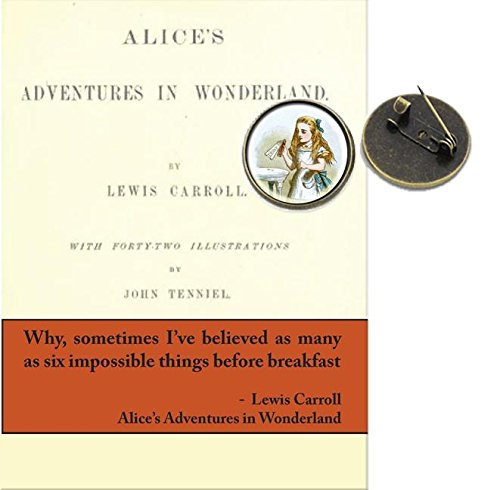 Booklover's Brooch and Lapel Pin: Alice in Wonderland:: Pkg of 4 PDF
