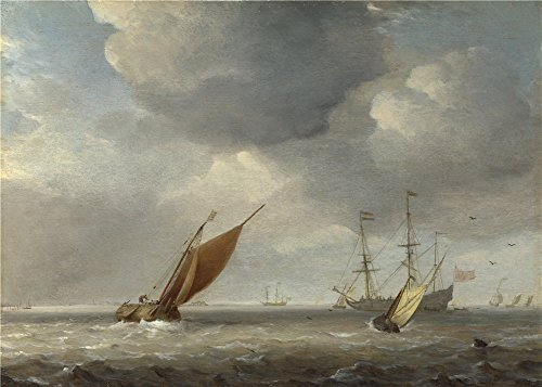 The Polyster Canvas Of Oil Painting 'Studio Of Willem Van De Velde Small Dutch Vessels In A Breeze ' ,size: 12 X 17 Inch / 30 X 43 Cm ,this Beautiful Art Decorative Prints On Canvas Is Fit For Bar Decor And Home Decor And Gifts (Mix Secrets For The Small Studio compare prices)