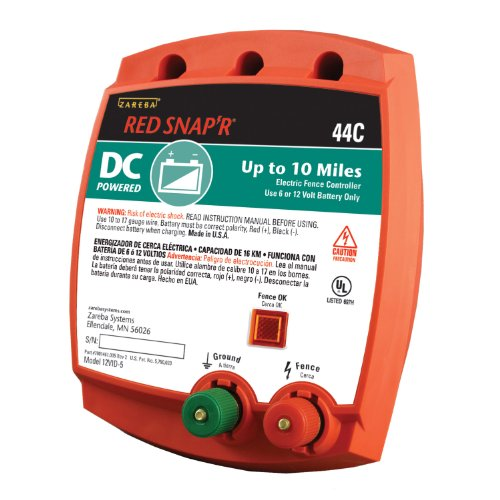 Red Snap'r 44C Battery- Powered Solid State 10 Miles Fence Controller (Battery Electric Fence compare prices)