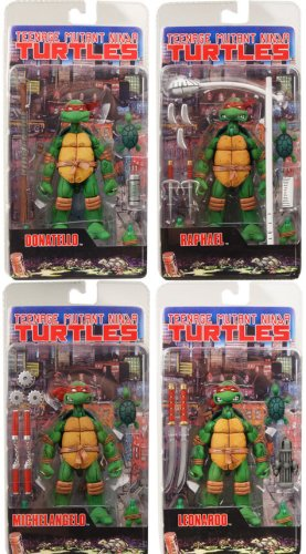 Picture of NECA Teenage Mutant Ninja Turtle Series 1 Set of 4 Action Figures (B000ZM3WJ4) (TNMT Action Figures)