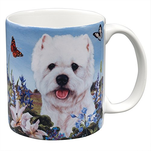 Amazingly Lifelike Westie and Butterfly Garden Mug