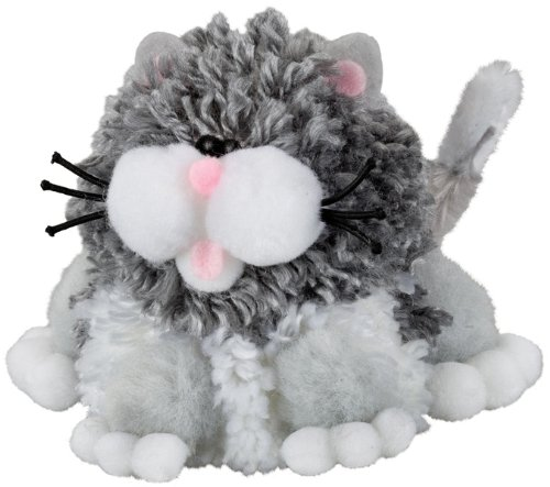 Westrim Cuddly Pom Kits Gray/White Cat Chat - 1