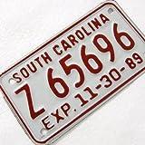 ライセンスプレート、サウスキャロライナ(LP-204-RED)