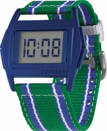 Converse Men's VR005305 Lowboy Classic Digital with Green Blue and White Strap Watch