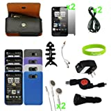 CrazyOnDigital New Accessory Kit 16 items for New HTC HD2 Wireless Cell Pho ....
