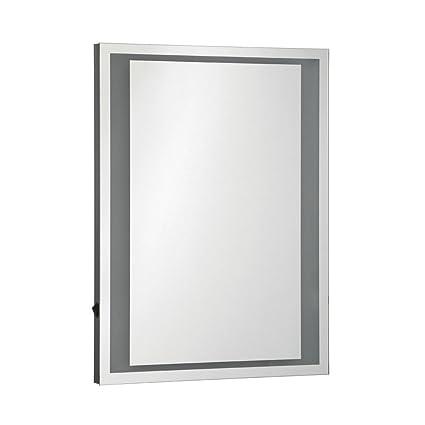 Protege Homeware Aluminium/Glass Oran Illuminated Wall Mirror