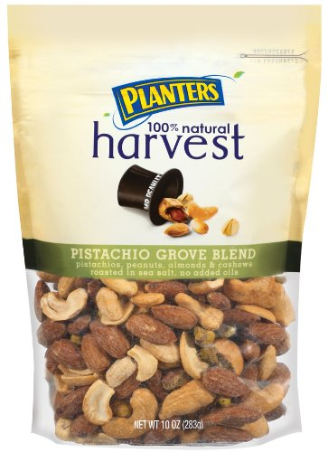 Planters Harvest Pistachio Grove Blend, 10-Ounce Bags (Pack of 3)