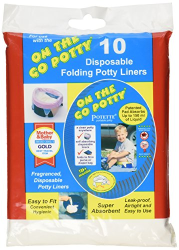 Kalencom Potette on the Go Potty Liner Re-fills 10-pack (Pack 2)