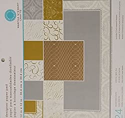 Martha Stewart Crafts Paper Pad, Elegant, 12 by 12 Inches, 24 Sheets