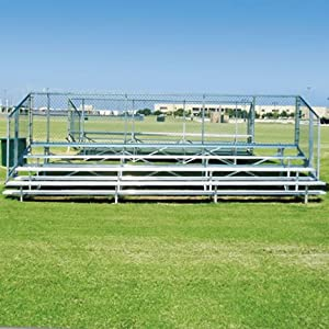 21 Stationary Aluminum Bleachers 4 Rows from SSG / BSN