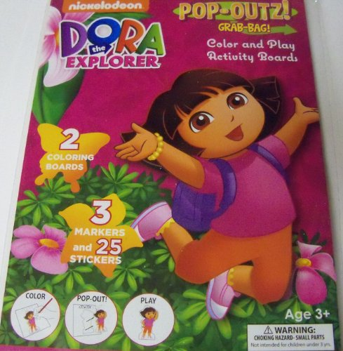 Dora the Explorer Pop-Outz Grab Bag ~ Color, Pop-out, Play (Adventures with Dora and Boots)