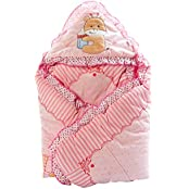 Mee Mee Baby Warm Wrapper Cum Blanket With Hood (Pink) - B01I9V1IV6