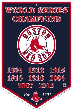 Boston Red Sox 2013 World Series 8 Times Champions Tin Sign