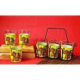 A Krazy Mug: Handpainted Tapri Glass - Chhotu Haati /// Elephant Decor , Elephant Set , Elephant , Unique Gifts...