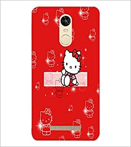 PrintDhaba Kitty D-5554 Back Case Cover for XIAOMI REDMI NOTE 3 PRO (Multi-Coloured)