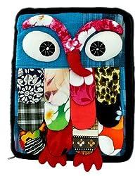 Owlycharms Handmade Patchwork Owl Ipad Sleeve Bag Case Cover for Apple iPad 4, iPad 3, iPad 2, the new iPad, iPad Air and Kindle-Sky Blue