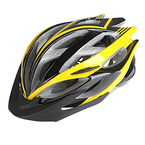 Gonex Road/Mountain Cycling Bike Helmet, Black/Yellow (Cycling Road compare prices)
