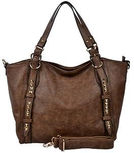 Hynes Eagle Stylish Leather Oversize Tote Bags Handbag Purses