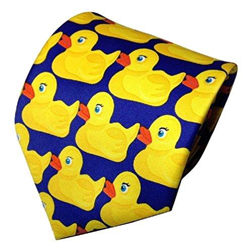 Rubber Duck Necktie Barney Ducky Tie (Funny Men Ties compare prices)