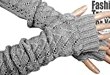 Lady Long Stretch Weave Knit Arm Warmer