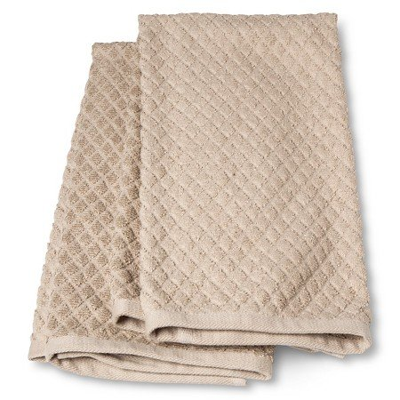 New Terry Kitchen Towel Tan (2 Pack) (Threshold Dishes compare prices)