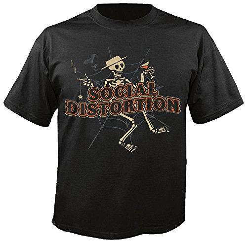 Social Distortion - Top - Uomo-Donna Nero  nero