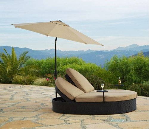 Bridgeton Moore Solera Double Chaise With Umbrella Huge