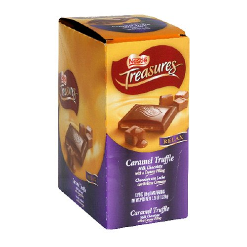 Buy Nestles Treasures Gold Caramel Premium Candy, 3-Ounce Bars (Pack of 12) (Nestle, Health & Personal Care, Products, Food & Snacks, Snacks Cookies & Candy, Candy)