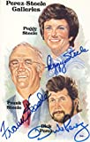 Perez-Steele Gallery Card Autographed by three Partners - Peggy & Frank Steele and Dick Perez