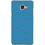 PrintVisa Designer Back Case Cover For Samsung Galaxy On Max (Blue Hearts Pattern)