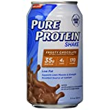 Pure Protein 35g Shake - Frosty Chocolate, 11 ounce, (Pack of 12)