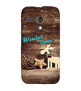 Fuson Premium Winter Time Printed Hard Plastic Back Case Cover for Motorola Moto G
