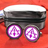 Council of Royal & Select Masters of Cryptic Masons (York Rite) Masonic Cufflinks with Gift Box