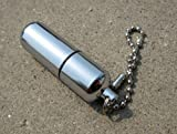 Survival Waterproof Peanut Capsule Lighter Cigarette Cigar Refillable Oil Lighter Torch Key Chain