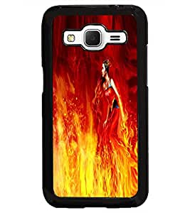 PRINTSWAG FIRE GIRL Designer Back Cover Case for SAMSUNG GALAXY CORE PRIME