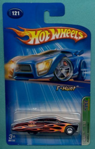 Mattel Hot Wheels 2005 Treasure Hunt 1:64 Scale Purple Flamed Passion 1/12 Die Cast Car #121 - 1