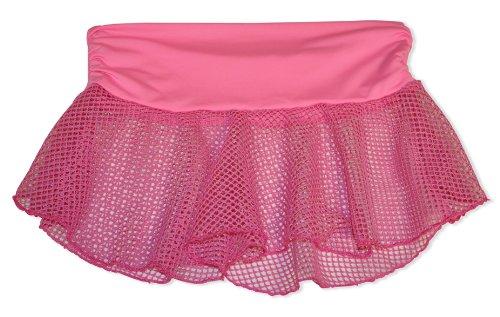 Fischnetz Minirock mit hohem Bund in Farbe schwarz, rosa & hellblau ; Größen 36/38 & 38/40