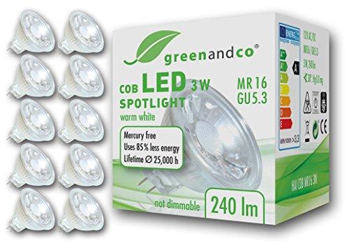 10x-greenandco-LED-Spot-ersetzt-25-30-Watt-MR16-GU53-Halogenstrahler-3W-240-Lumen-2700K-warmwei-COB-LED-Strahler-38-12V-ACDC-Glas-mit-Schutzglas-nicht-dimmbar-2-Jahre-Garantie
