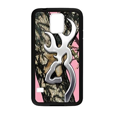 Hoomin Pink Realtree Camo Browning Cutter Samsung Galaxy S5 Cell Phone Cases Cover Popular Gifts(Laster Technology) from yoyomax