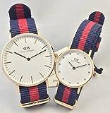 [ダニエルウェリントン]Daniel Wellington 腕時計 ペアウォッチ NATOベルト カップル 0501DW 36mm 0905DW 26mm 2本セット メンズ レディース [並行輸入品]