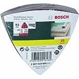 Bosch 25-teiliges Schleifblatt-Set für Deltaschleifer, 93 mm, Körnung 60, 120, 240, 2607019500